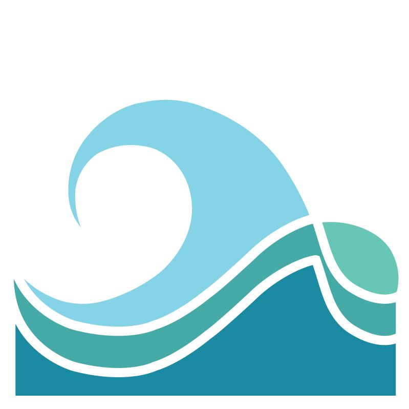 I like the bottom two waves and the color combination | Logo Likes ...