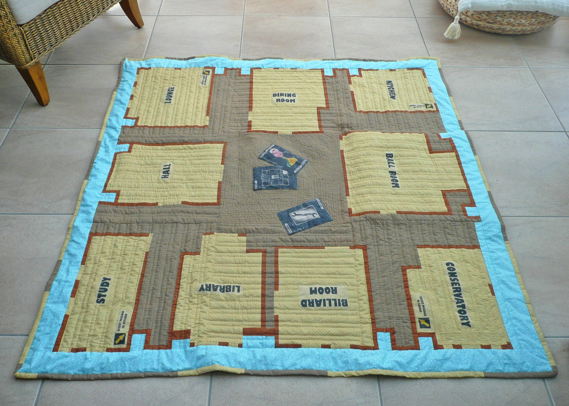 A Quilt Designed On The Cluedo Games Board How Cool