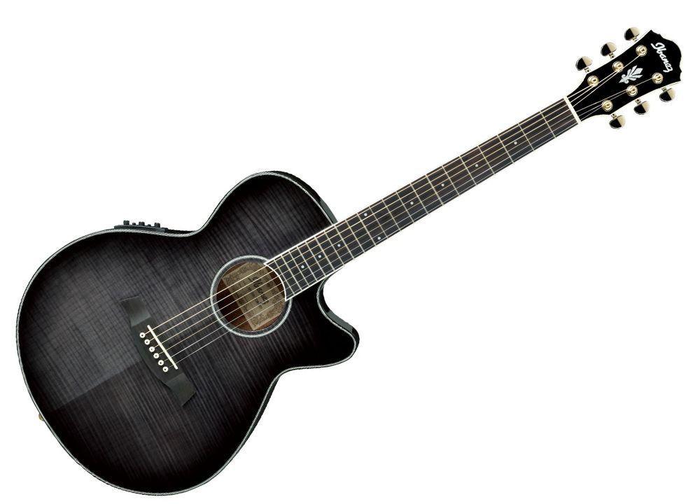 Ibanez Aeg24ii Tgb Electro Acoustic Guitar Transparent Grey Burst Electro Acoustic Guitar Ibanez Guitars Acoustic Guitar