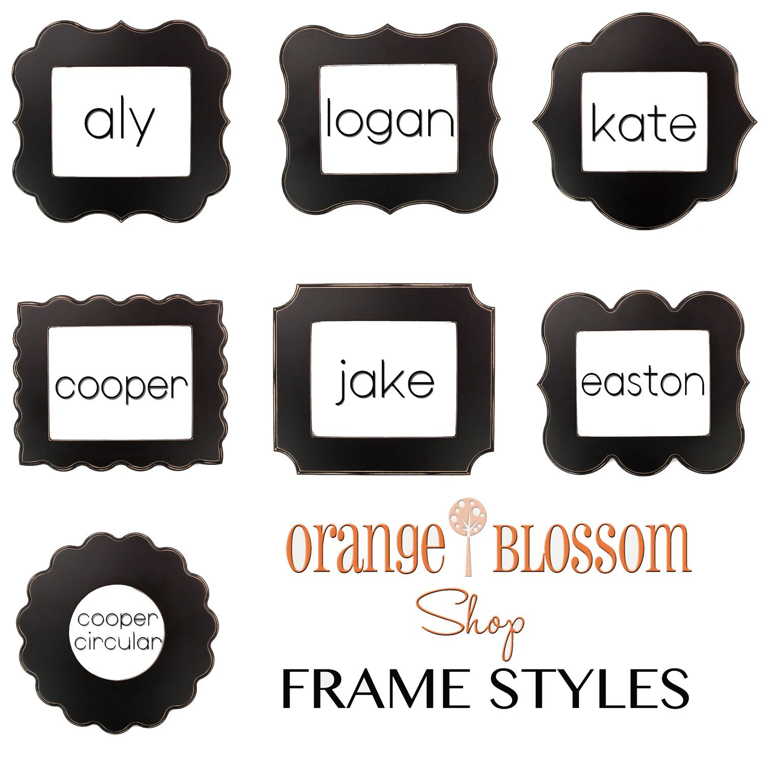 5x7 whimsical and unique picture frames. Pick your style and color ...