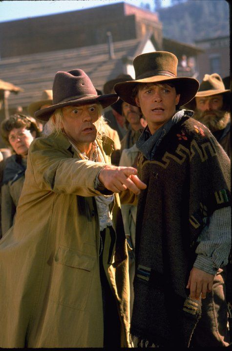 Michael J Fox And Christopher Lloyd In Back To The Future Part