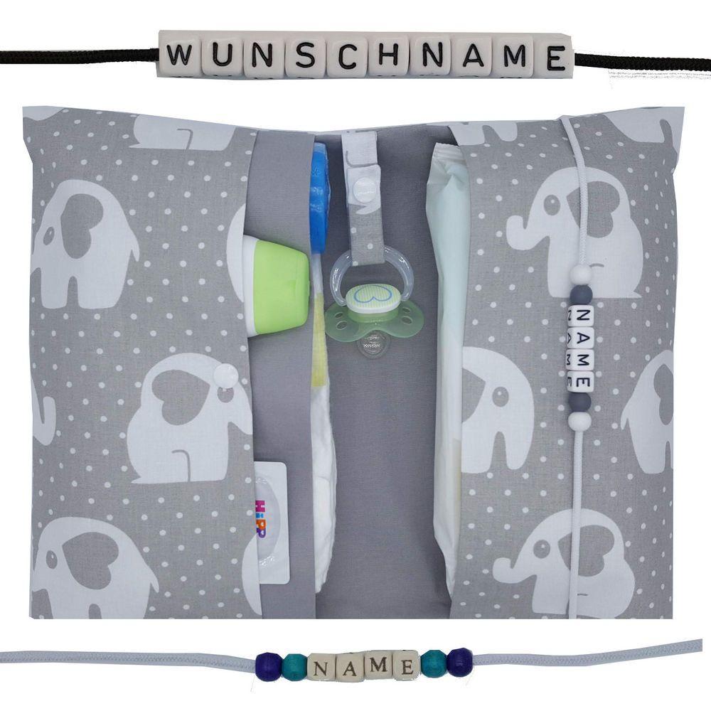 XXL Windeltasche to go mit Name Wickeltasche DaWanda Junge Geschenk Geburt Taufe