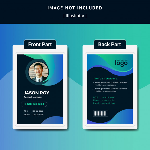 Business Card Template With Gradiant Free Printable Business Cards Business Card Template Card Template