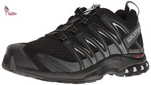Chaussures de Marche pour Femme Noir Black//Black//Cerise. Salomon