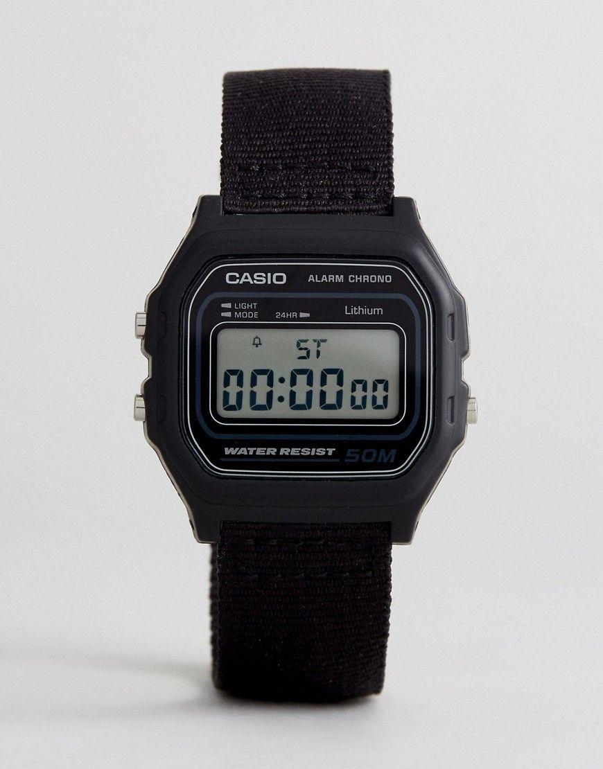899c3a7e9f3 CASIO W-59B 1AVEF DIGITAL CANVAS WATCH IN BLACK - BLACK.  casio ...