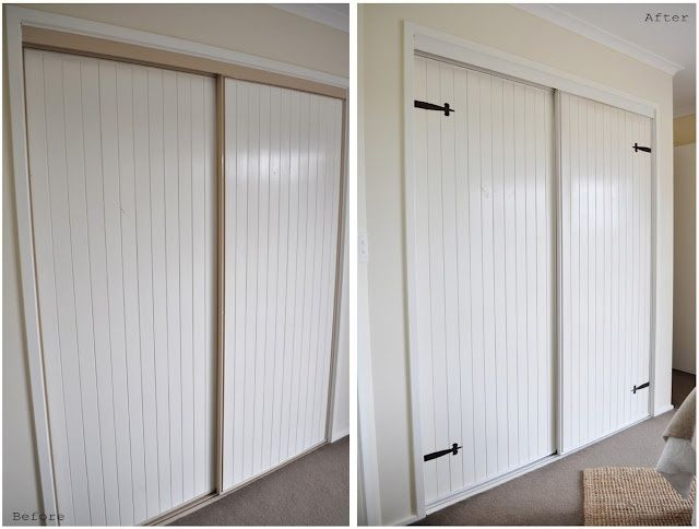 What A Cheap And Chic Way To Cover Those Closet Doors Will Be Doing