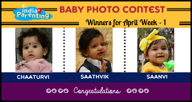 Congratulations to the Baby Photo Contest Winners for April Week-1