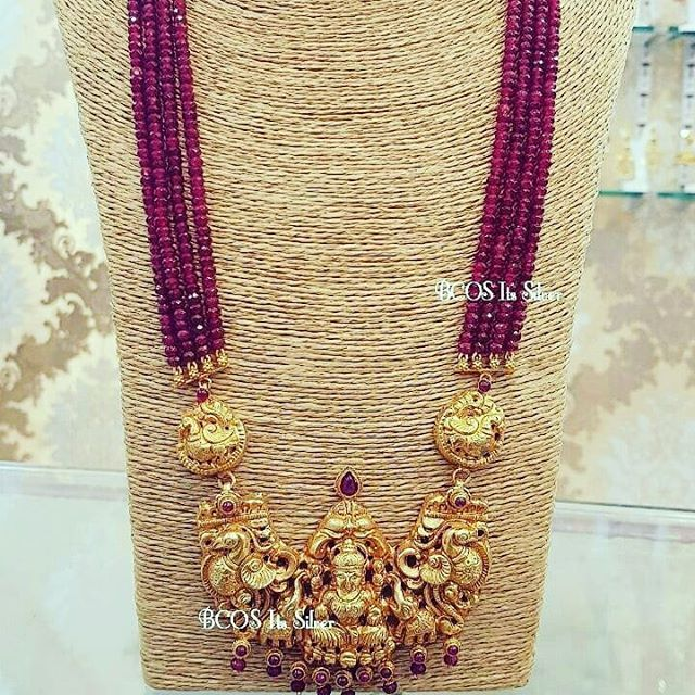 jewellery temple look traditional medium model long design haram jewelsmart one necklace gram online beads gold