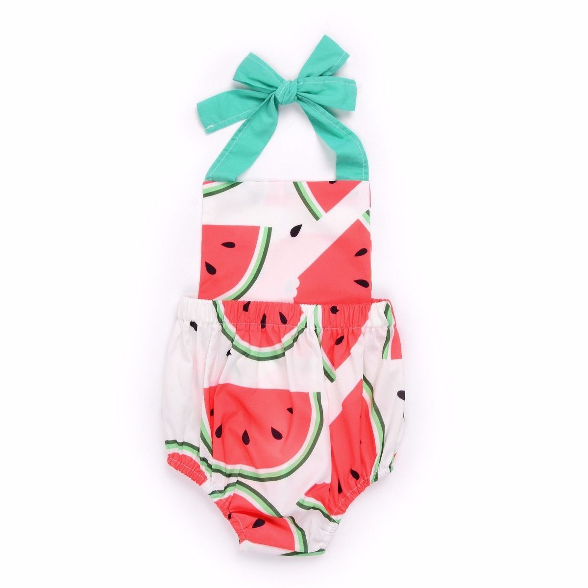 4e605121f4fc 0-24M Newborn Baby Girls Summer Clothes Watermelon Romper Backless Jumpsuit  Outfit Sunsuit Clothing