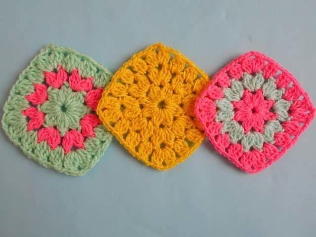 Flower Square Design | crochet | Pinterest