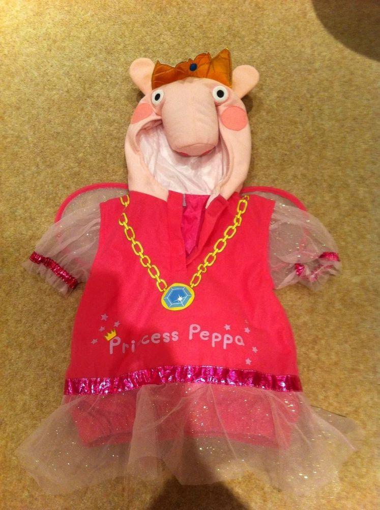Peppa Pig Princess Fancy Dress Costume Age 1 3 Pepa Pig Costumes