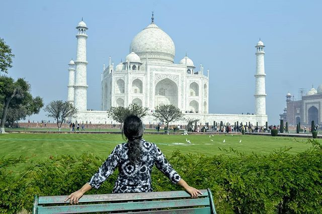 Skyline. What a view! What can be better than gazing at the Taj Mahal on a quiet...