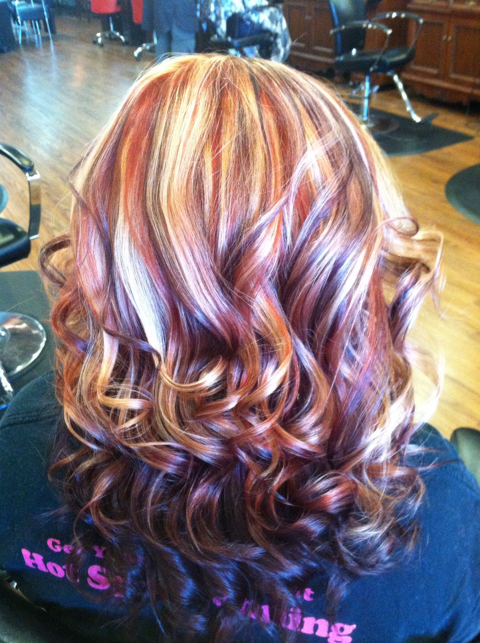 Copper Blonde And Purple Hair With Images Purple Blonde Hair