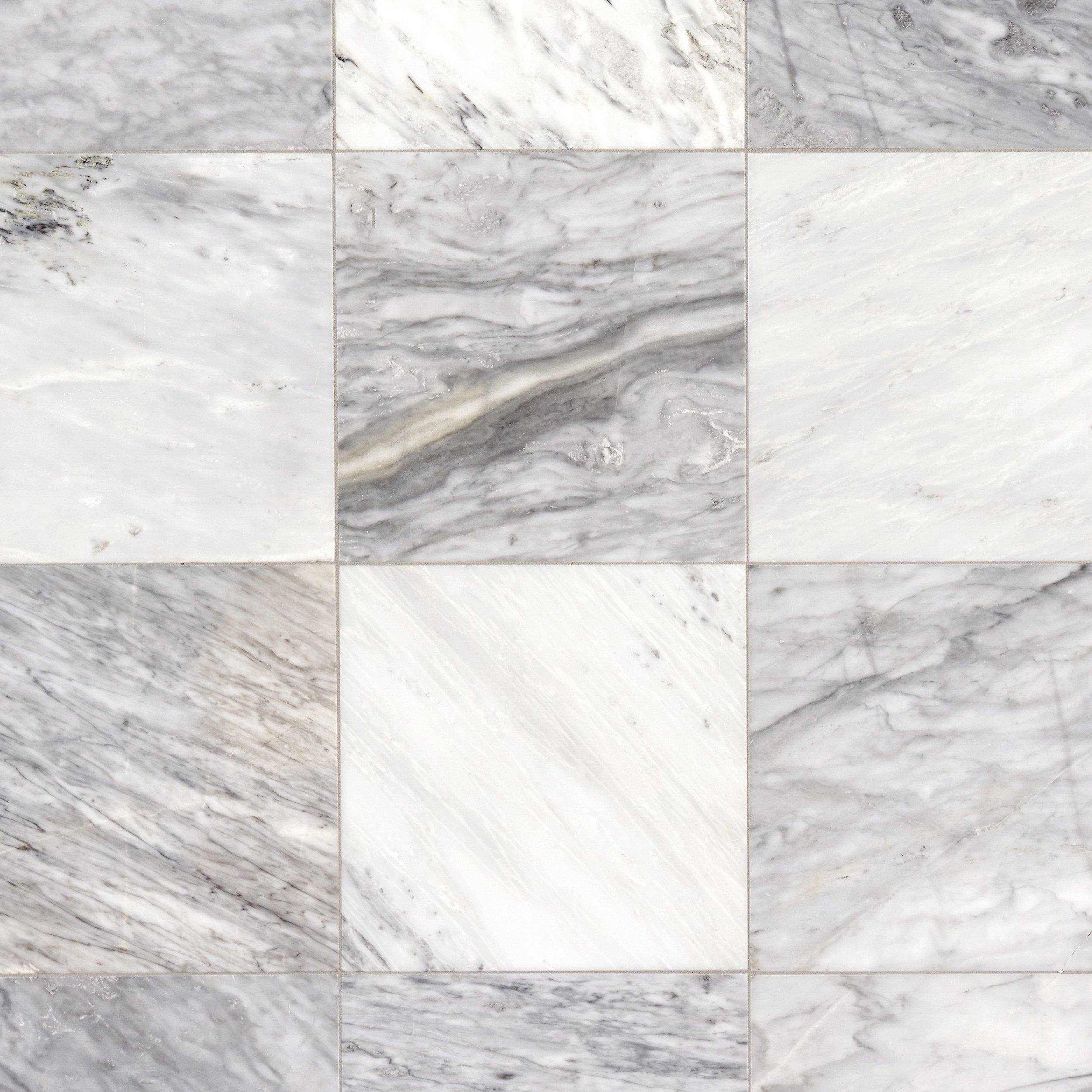 Carrara White Honed Marble Tile Floor Decor In 2020 Honed Marble Tiles Honed Marble Marble Tile Floor