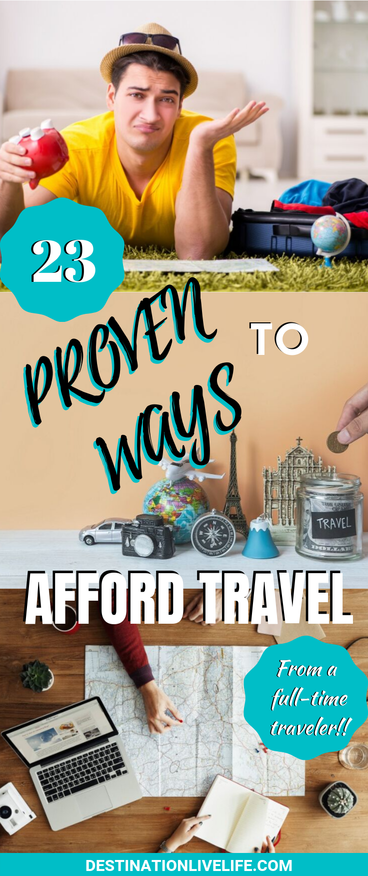 Photo of HOW TO AFFORD TRAVEL – 23 TIPS FROM SOMEONE DOING IT FULL-TIME!   Destination: Live Life