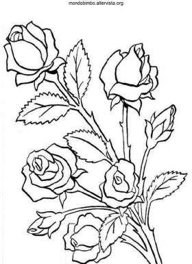 Disegno Colorare Boccioli Rosa Disegno Glass Painting Designs