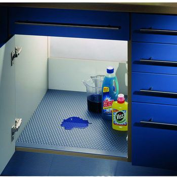 Peter Meier Aqua Undersink Drip Mat With Free Shipping Kitchensource Com Kitchen Cabinets Storage Organizers Kitchen Cabinet Storage Under Sink Organization