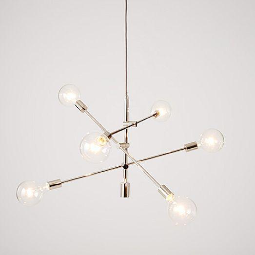 west elm lighting. For Presley\u0027s Room - Mobile Chandelier Brushed Nickel | West Elm Lighting