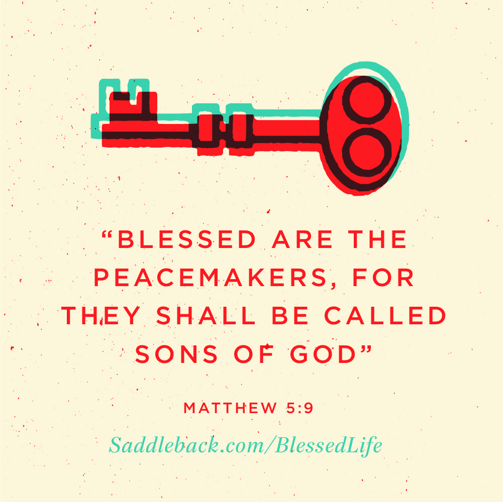 "Peacemaker Quotes Matthew 59 ""blessed Are The Peacemakers For They Shall Be Called"
