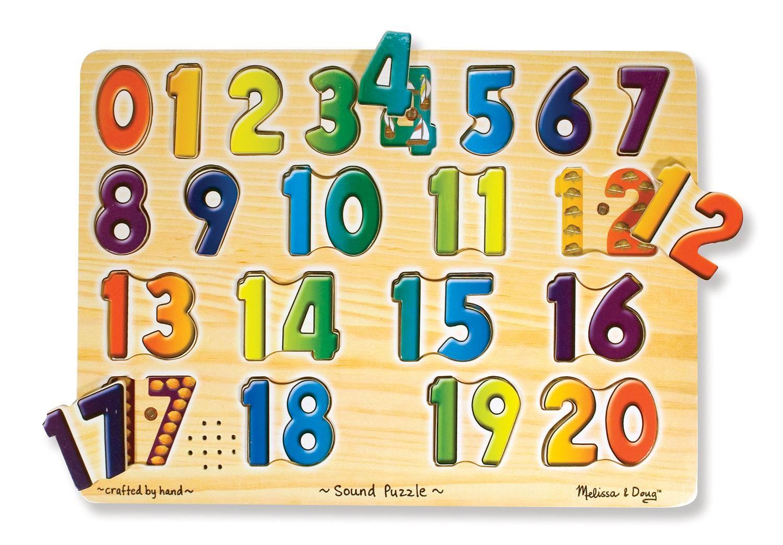 Amazon.com: Melissa & Doug Numbers Sound Puzzle: Toys & Games ...