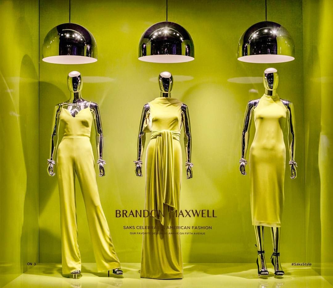 Saks Fifth Avenue New York City Usa In The American Fashion Spotlight For Brandon Maxwell Pinned By Ton Van Der Veer
