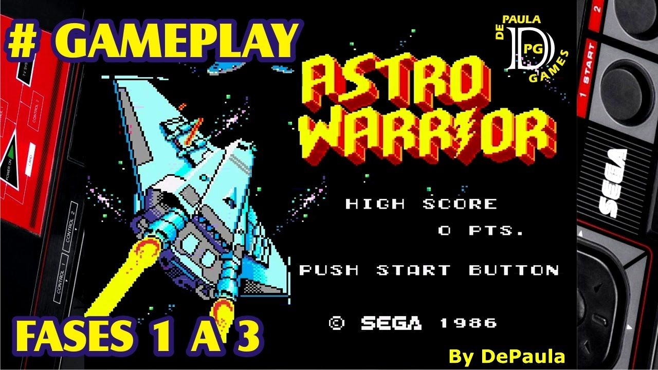 Astro Warrior MASTER SYSTEM Gameplay