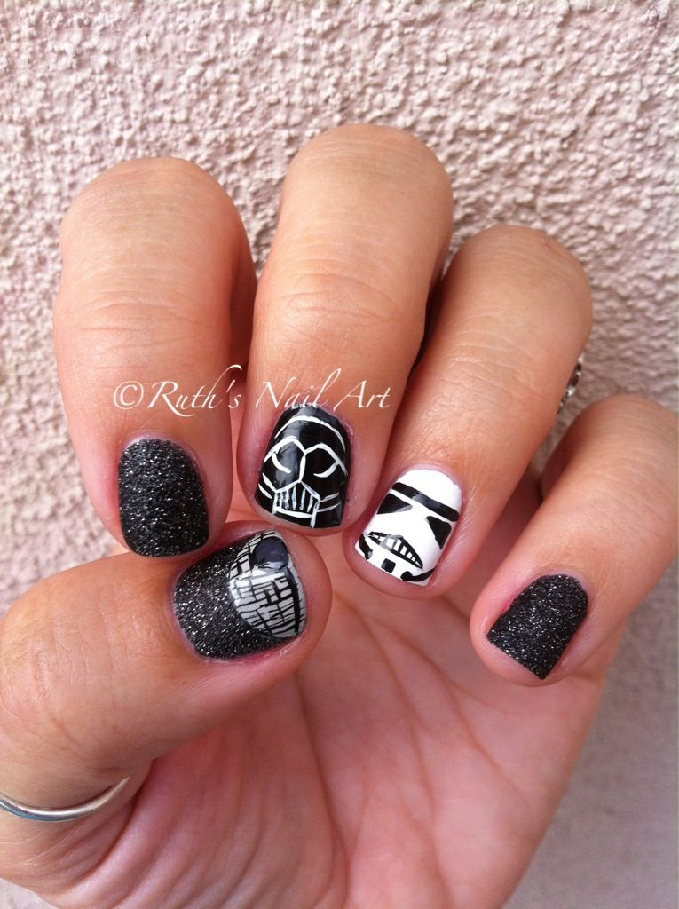 Star Wars Nails! May the 4th be with you! #nailart #ruthsnailart ...