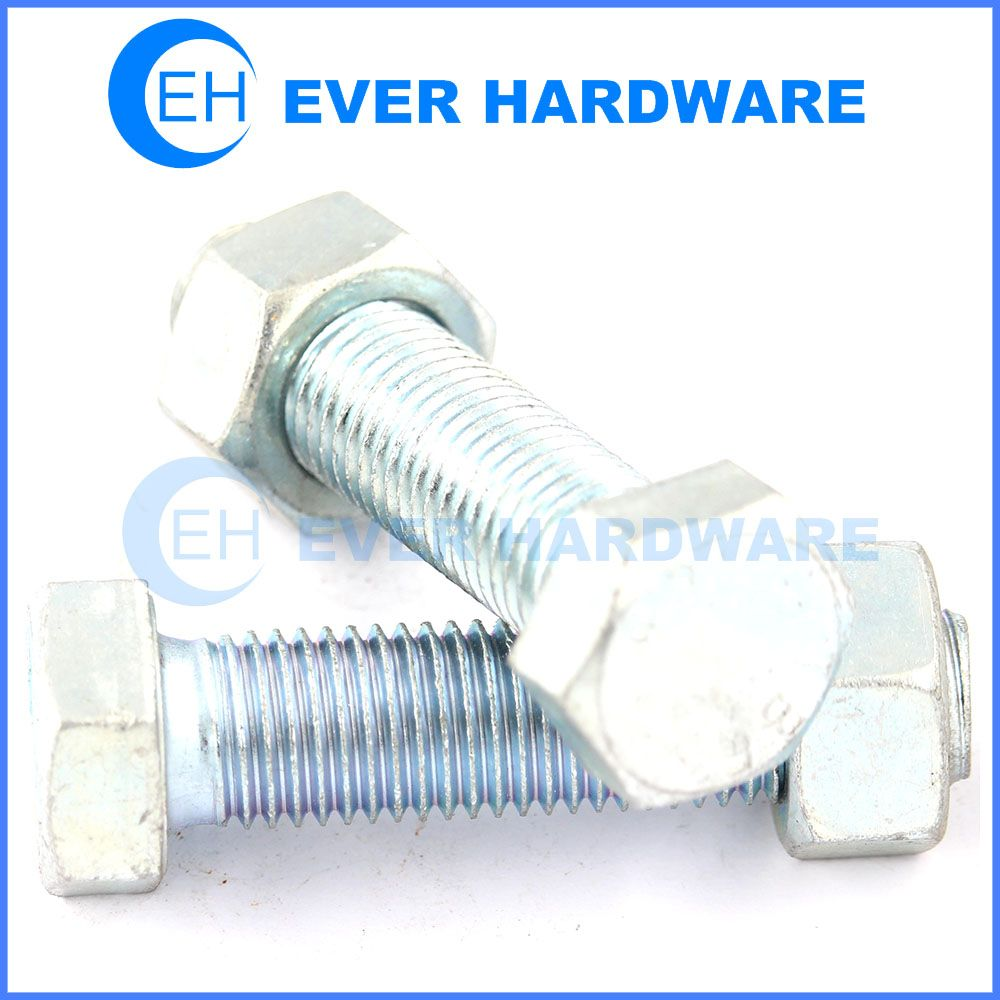 Hex bolt and nut grade 10 metric zinc plating large bolts and nuts
