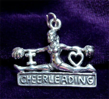 I Love CHEERLEADING Girl Doing SPLITS Charm You can buy this in my Etsy store by CharmAndChain, $34.50