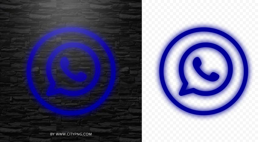 Hd Dark Blue Neon Outline Whatsapp Wa Round Circle Logo Icon Png Circle Logos Logo Icons Logos