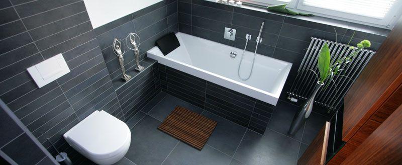 bad fliesen grau Bathroom Pinterest Bad fliesen, Fliesen und - badezimmer weiß grau