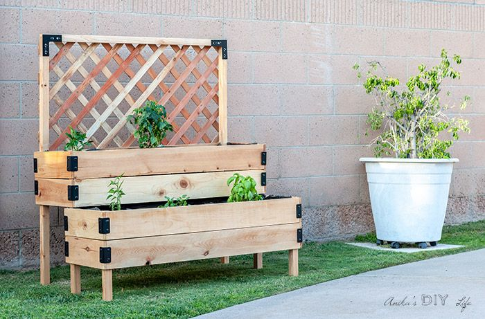Diy Tiered Raised Garden Bed Full, How To Build A Raised Garden Bed With Legs From Pallets