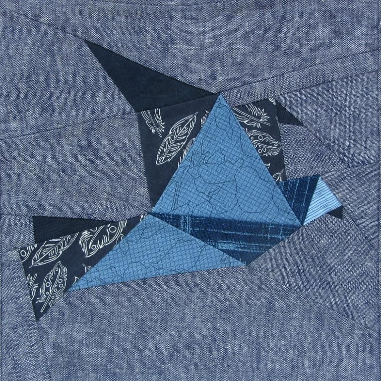 (9) Name: 'Sewing : Origami Bird Paper Piecing Quilt Block