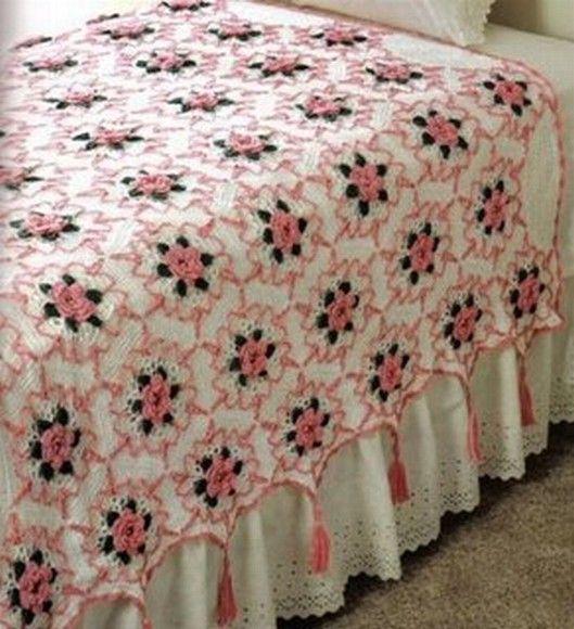 colcha de croche | mantas | Pinterest | Colchas, Manta y Cubrecamas
