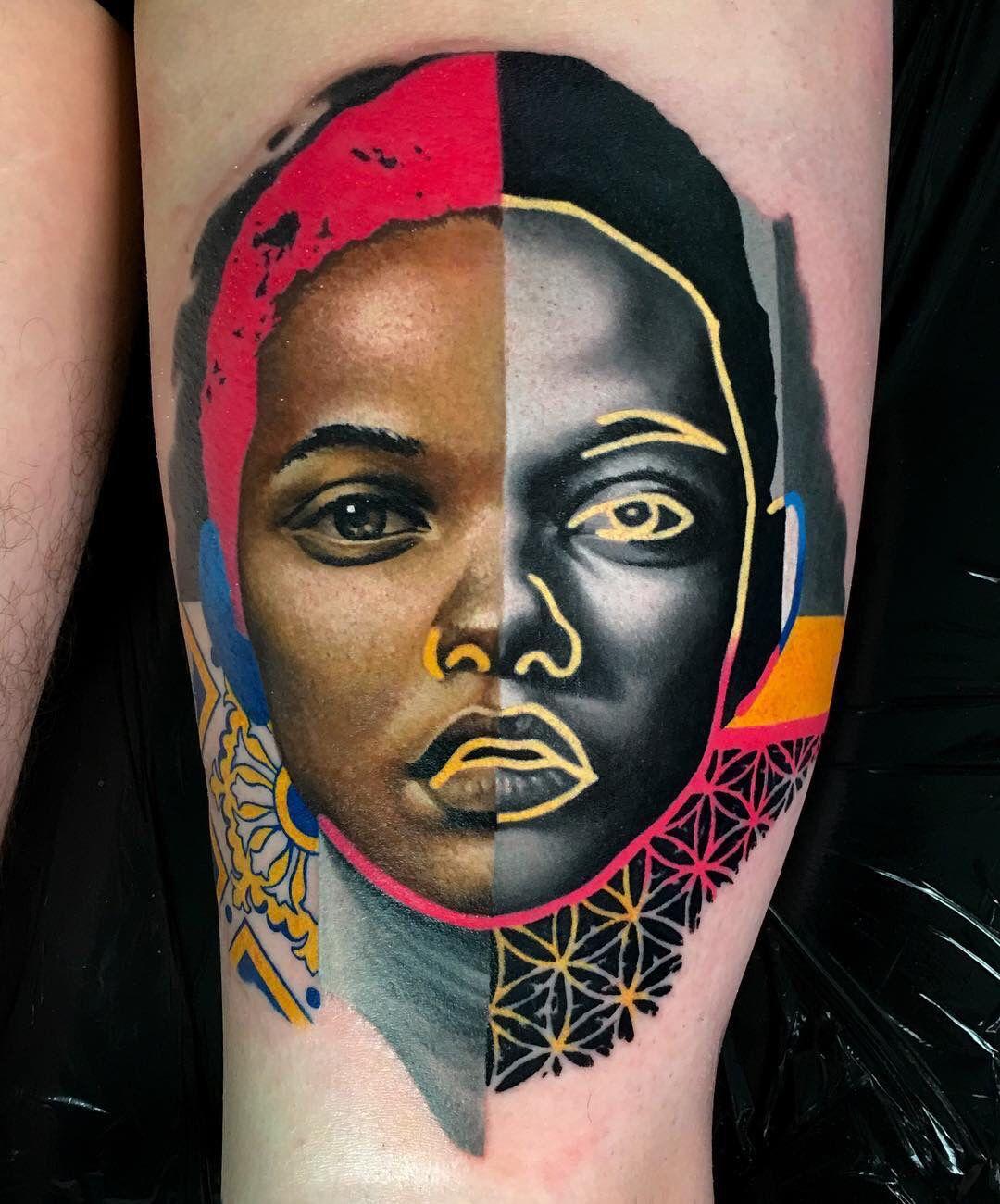 Graphic Tribeswoman Tattoos Portrait Tattoo Cool Tattoos
