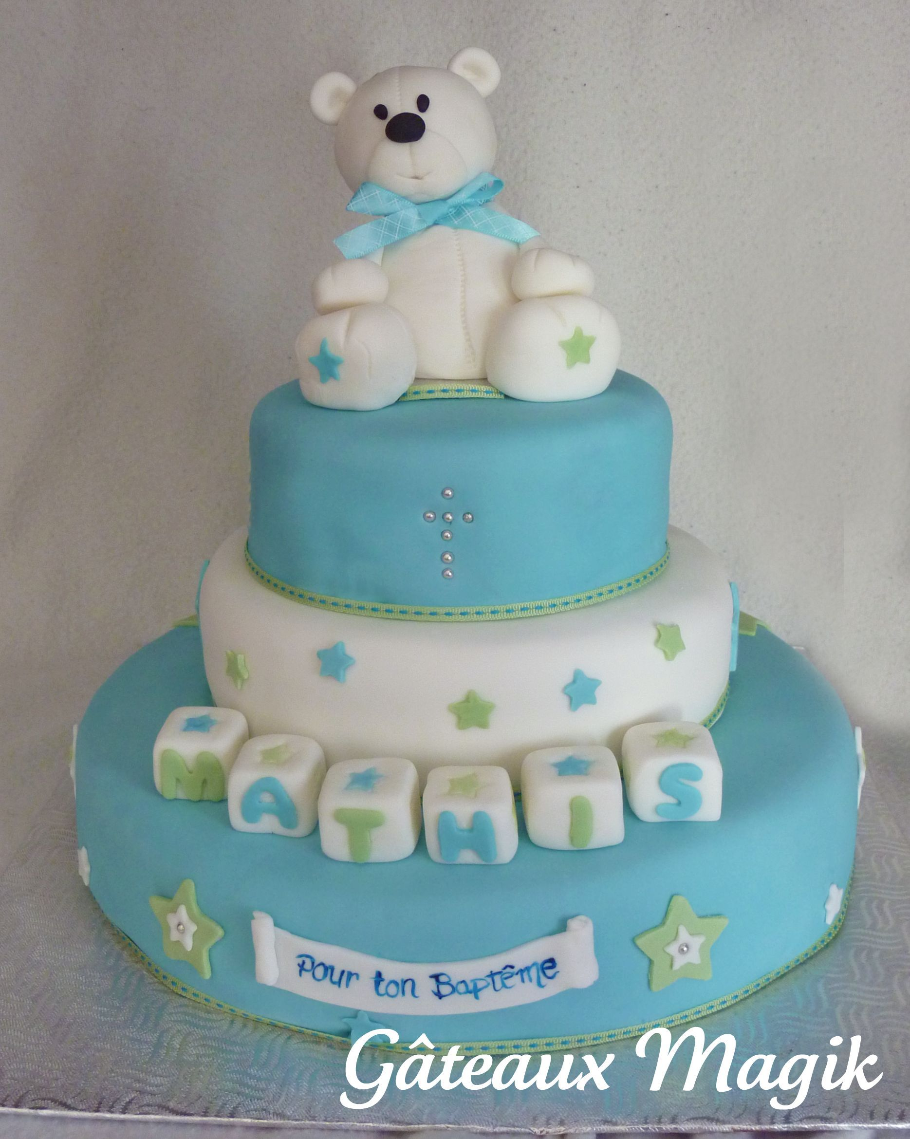 ourson blanc pour un baptême pinteres