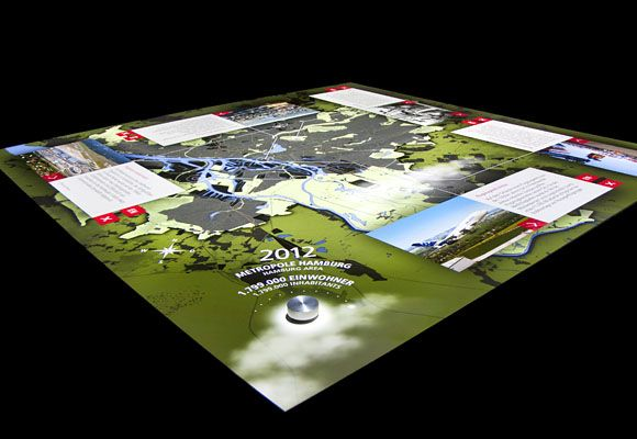 ART+COM:Interaktive Karte im Hamburgmuseum