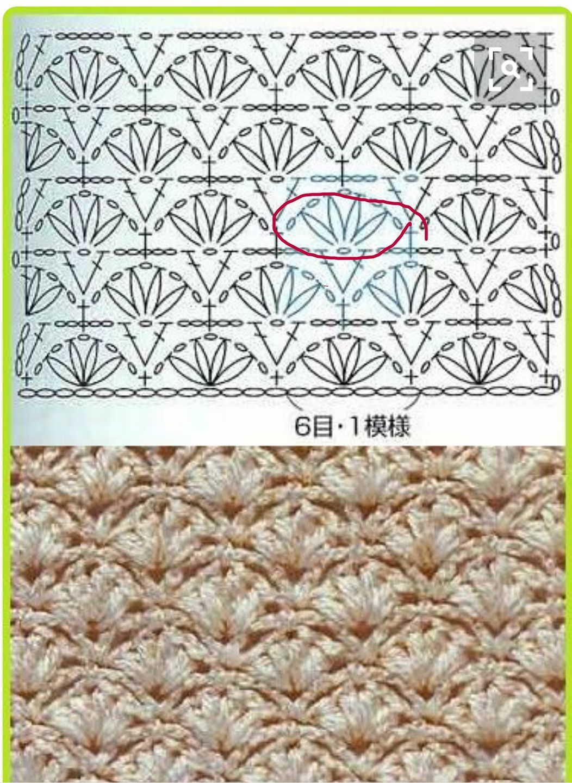 Pin von Ruth Cangemi auf Crochet stitches | Pinterest