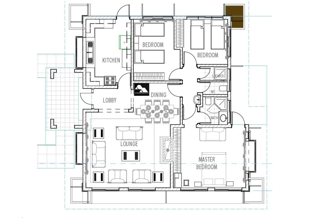 3bedroom Bungalow Plans By Kenyan Architect Bungalow House Plans House Plans Bedroom House Plans