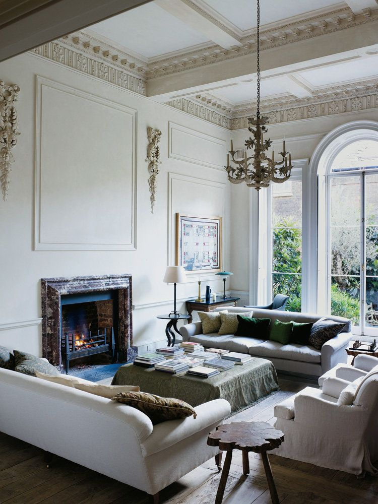 House Drawing Room Designs: Classic English Coziness Meets Minimalist Rigor For A