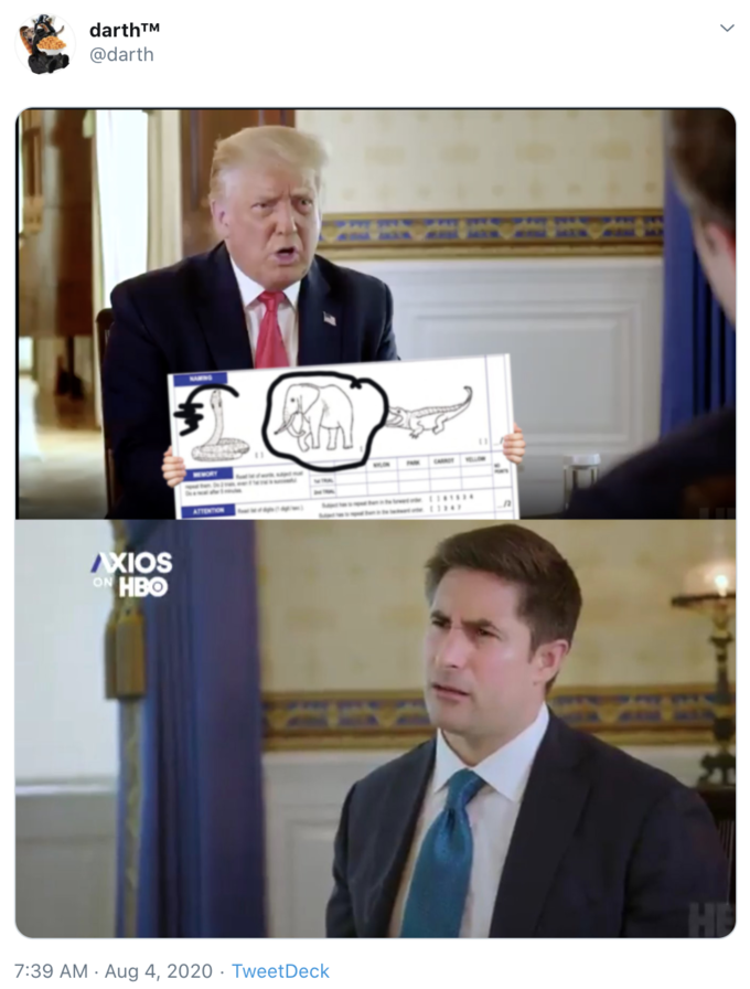 Elephant test Confused Reporter Jonathan Swan in 2020