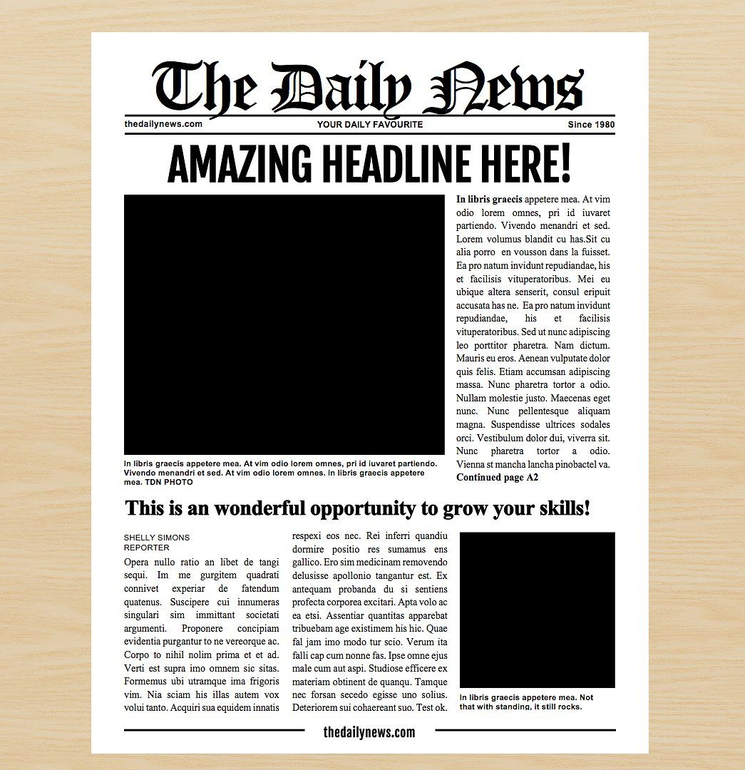 7 Newspaper Style Templates Features Important Ilrator