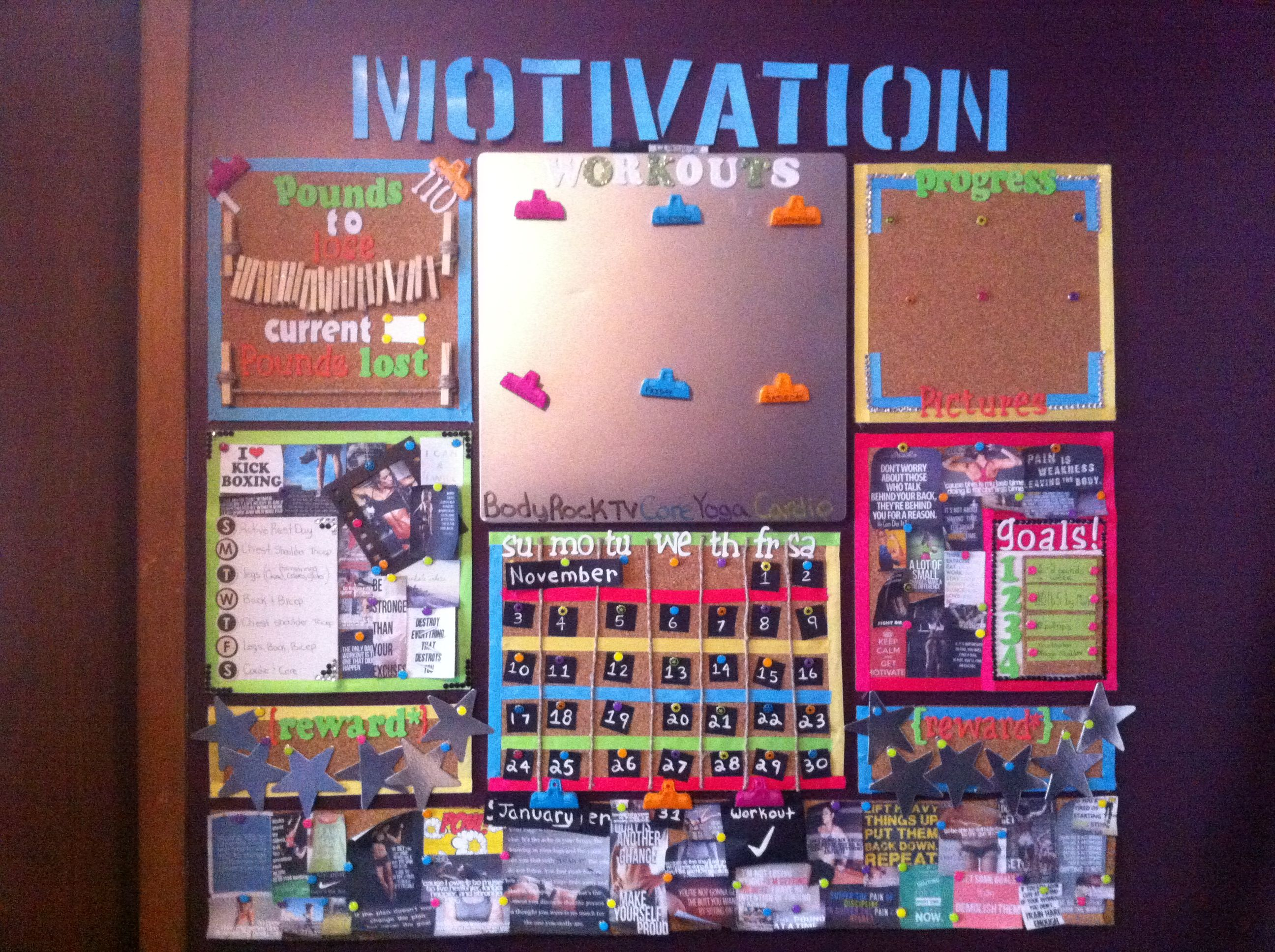 Great Idea Create A Motivation Board To Help You Reach Your Goals I Love This One Its So
