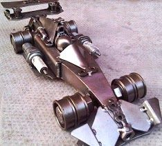 Formula One Car. Contact us at sales@steelartfactory.com for more information.