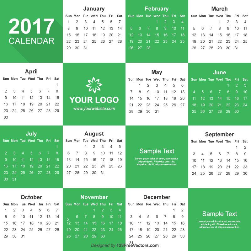 illustrator calendar template