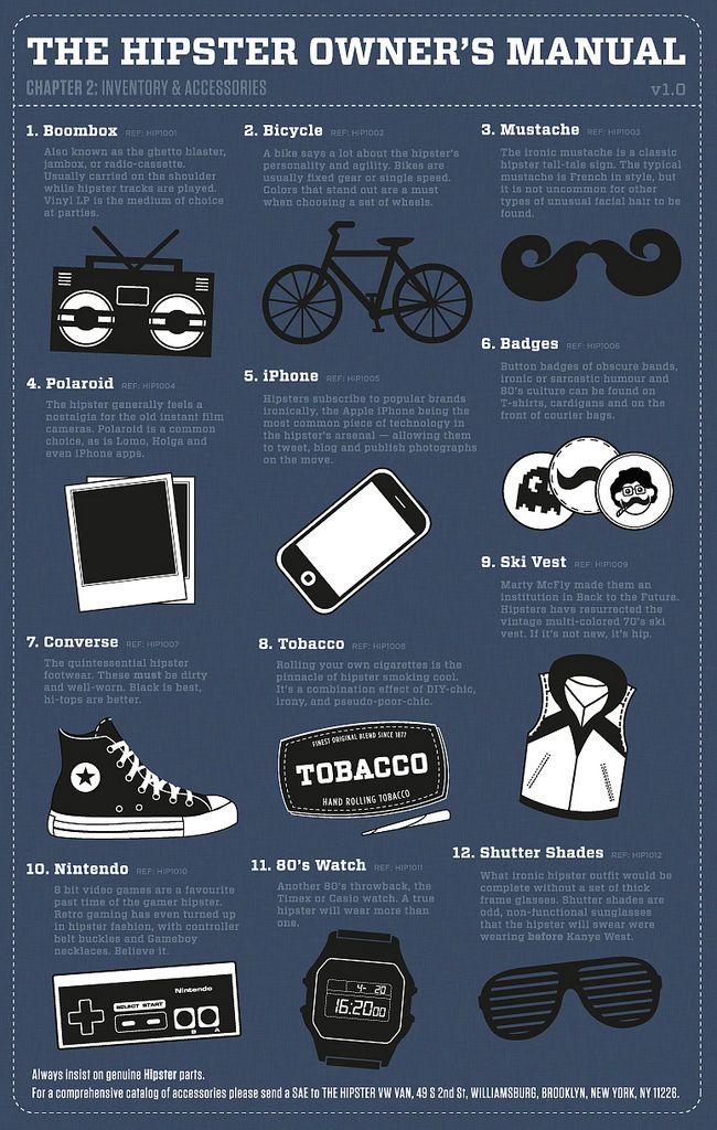 Neo Hipster - ha un manuale che spiega l'ABC dell'hipsteria: Atteggio, Baffo, Converse.