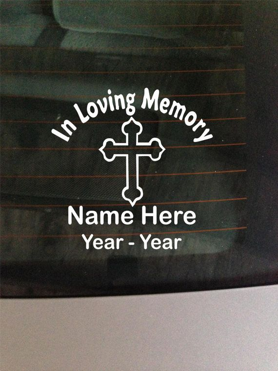 In loving memory decal window sticker custom by greenmountainvinyl 8 00