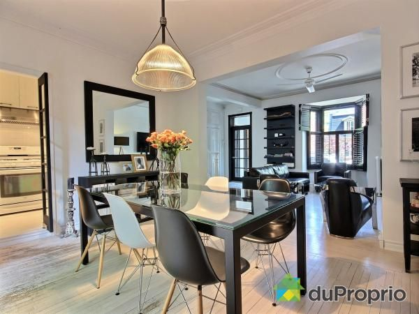 Semi-detached South-West Montreal  Bi Cromo - Dinner room and Lining area