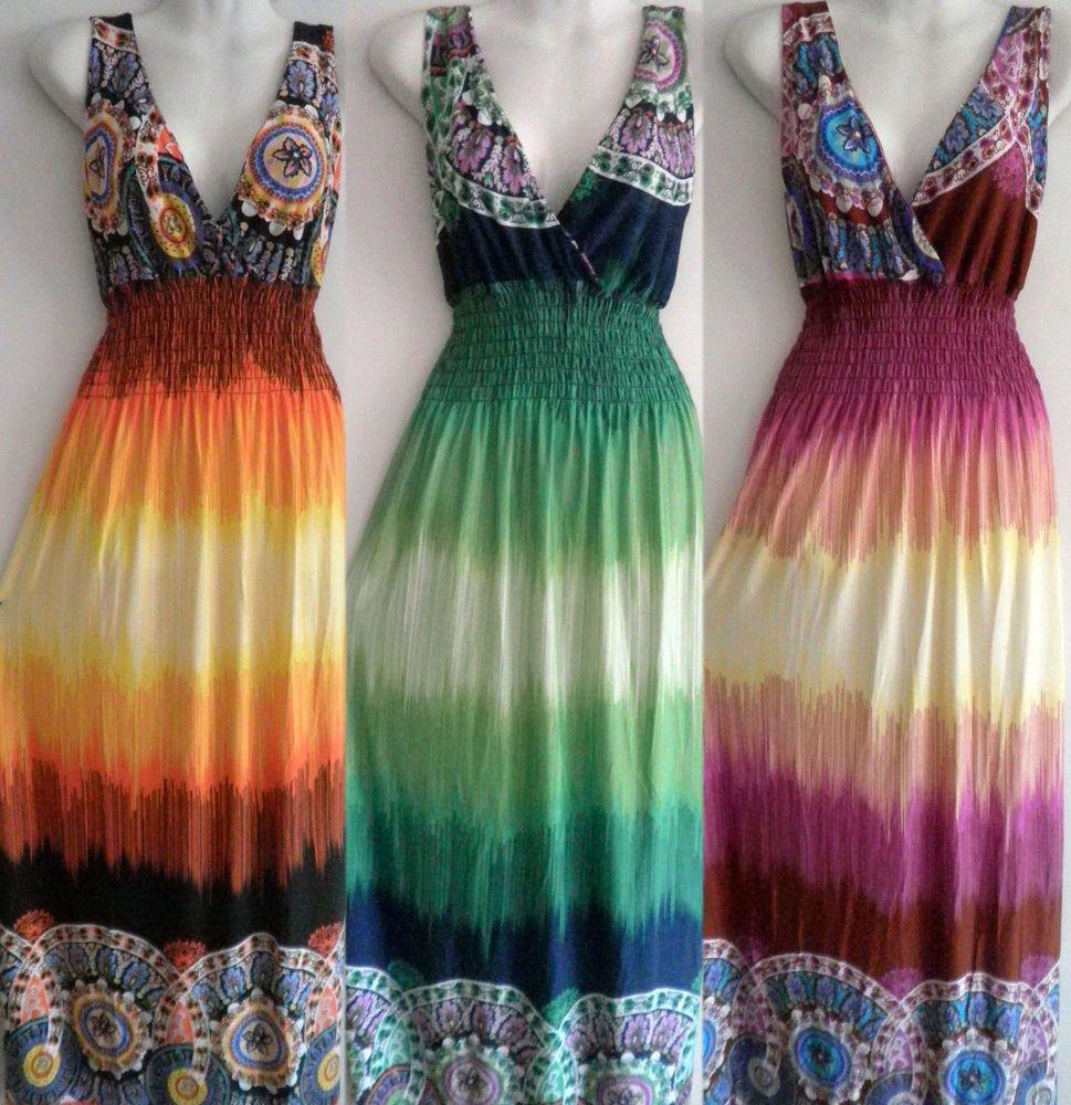 PLUS SIZE Women Long Maxi summer beach party boho evening casual sundress 2016 #Unbranded #Maxi #Casual