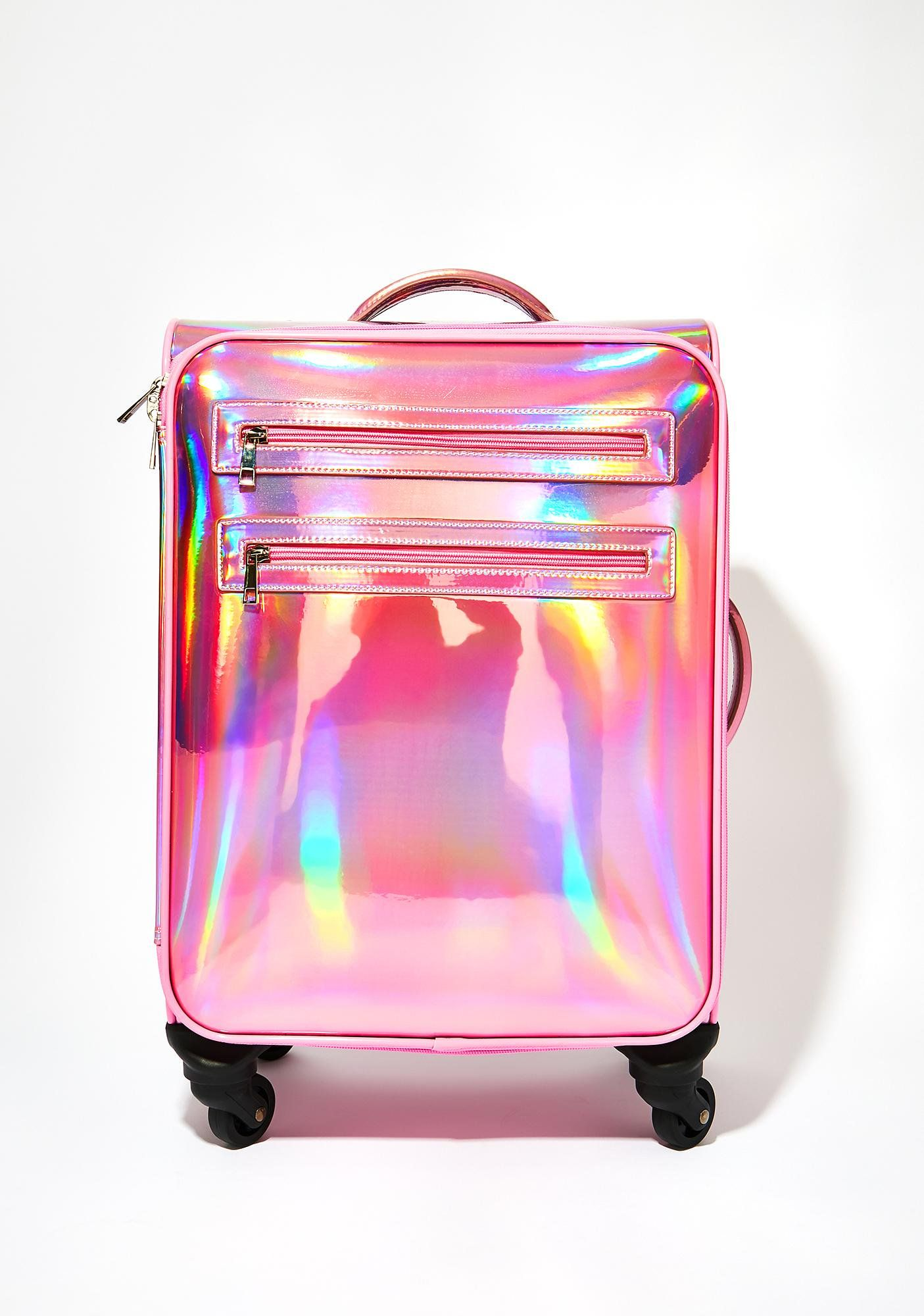 40ebd5963e Sugar Thrillz Shagadelic Suitcase will have ya travelin' first class to the  land of the fab! It's all glitz N' glam with this hologram rolling suitcase  that ...